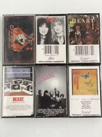 Heart Lot Of 6 Cassette Tapes Band