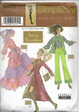 Simplicity Doll Collector's Club Pattern 9975 Savvy Seventies