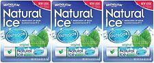 3 Pack MENTHOLATUM NATURAL ICE MEDICATED ORIGINAL SPF 15 LIP PROTECTANT BALM
