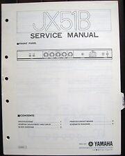 Yamaha JX51B Bass Guitar Amplifier Original Service Manual Schematics Parts List