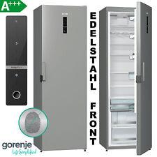 A+++ Kühlschrank Standkühlschrank 368 L Vollraum 185cm Edelstahl freistehend LED