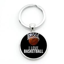 New l Love Basketball Hoop Net Sport Keychain Keyring Gift