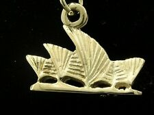 C074 Genuine 9K Solid Yellow Gold Detailed Australian Opera House Charm jumpring