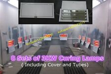8 SETS OF 3KW SPRAY/BAKING BOOTH OVEN INFRARED PAINT CURING LAMPS LIGHTS HEATER