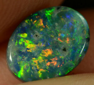 Black Opal Australian Natural Solid 0.65 ct  VERY BRIGHT GEMSTONE MAKE AN OFFER
