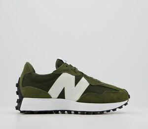 Mens New Balance 327 Trainers Oak Leaf Green White Trainers Shoes
