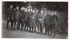 Gruppenfoto franz. Offiziere mit Soldaten Sevran Frankreich