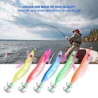 5Pcs Fishing Lures Hard Bait Lifelike Squid Jigs Shrimp Hooks Fishing Tackle New