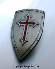 ZP286 Knights Templar Shield Crusader St George Crusade Cross Pin Badge Medieval