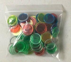 Magnetic Bingo Chips Bag of 100 Bingo Markers 3/4 Inch Diameter New