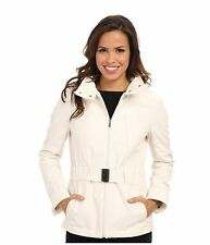 NWT KENNETH COLE NEW YORK LONG BELTED SOFT SHELL COAT JACKET OFF WHITE XL WOMENS