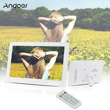 """10.1""""Full HD Digital Photo Picture Frame Alarm Clock Movie Player+Remote Control"""