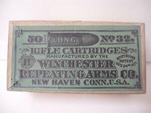 Rare Orig Winchester Ammunition Box 50 32 Cal Rifle Cartridges Empty Patent 1871