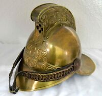 Brass Antique Helmet NSW FB Fireman French Helmet Firefighter SCA Without Stand