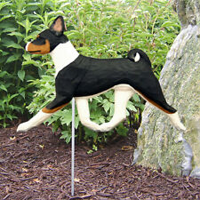Basenji Outdoor Garden Sign Hand Painted Figure Tri