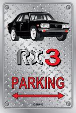 Parking Sign Metal MazdA RX3 4-door-17 - Checkerplate Look