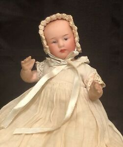 """6"""" Antique Gerbruder Heubach Character Baby FABULOUS CLOTHES!"""