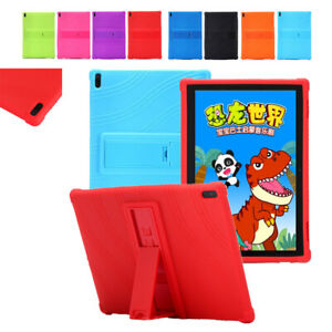 Protective Silicone Stand Case Cover For Lenovo Tab E10 TB-X104F/N 10.1in Tablet