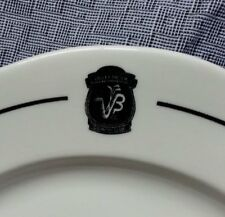 VALLEY BROOK COUNTRY CLUB BUFFALO CHINA BLACK   WHITE RESTAURANT WARE PLATE