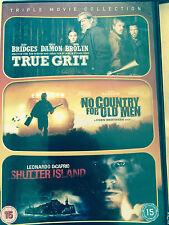 SHUTTER ISLAND / NO COUNTRY FOR OLD MEN / TRUE GRIT | UK DVD