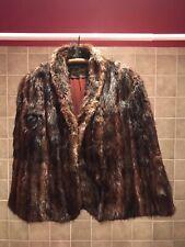 Vintage Stripling's Lined, Fur Cape, Stole or Wrap, Size M or L