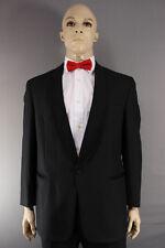 EX HIRE WOOL BLEND SINGLE BUTTON BLACK FORMALWEAR TUXEDO DINNER JACKET 36-56 IN