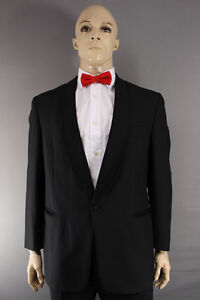 EX HIRE WOOL BLEND SINGLE BUTTON BLACK FORMALWEAR TUXEDO DINNER JACKET 36-56 IN