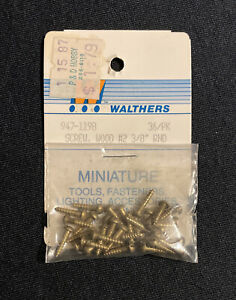 Walthers 947-1198 36/pack Brass Screw Wood # 2-3/8 RND Miniatures FREE SHIPPING