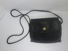 COACH CROSSBODY HANDBAG GENUINE LEATHER PURSE BLACK POCKETBOOK SHOULDER BAG