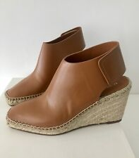 Celine Camel brown espadrilles Heels Shoes 37 NIB $660+tax
