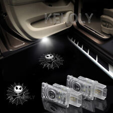 2x Christmas Jack Logo Car Door LED Laser Projector Shadow Light For Cadillac
