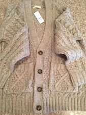 PACSUN LA Hearts Women's S One Size Cable knit Taupe Color Cardigan