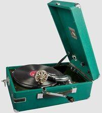 Hmv Green Vintage Phonograph Music Box Original Antique Table Gramaphone HB 031