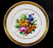 Porzellan Teller Blumen Schlesien um 1850 - 1880 AL419