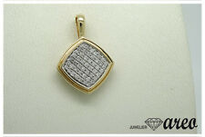 Anhänger 375 / 000 Gold ca. 0,25 ct. W / P2 Diamanten Original Zertifikat