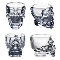 New Crystal Skull Head Vodka Whiskey Shot Glass Cup Drinking Ware Home Bar MT