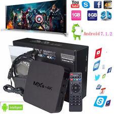New MXQ-4K Android 7.1 Quad Core Smart TV BOX 1G+8G Wifi Media Player HDMI USB