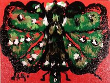Modernist ABSTRACT Expressionist Wall ART Painting BUTTERFLY INSECT MOOD FOLTZ