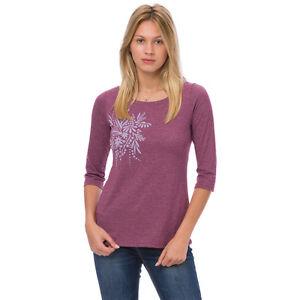 Animal NEW dark berry purple floral print flower t shirt top BNWT £25 sizes 8-16