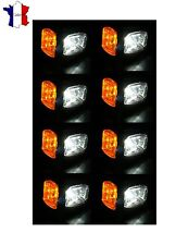 8X 12V 24V LED FEUX DE GABARIT LATERAUX ROUGE ORANGE BLANC POUR IVECO MAN SCANIA