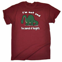 Not Sad Scared Of Heights MENS T-SHIRT birthday dinosaur cute funny gift 123t