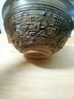 1978 large studio pottery bowl signed and dated , great condition