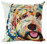 COCKAPOO / CAVAPOO Cushion Cover! Watercolour Dog Art Linen Pillow 45cm Gift UK