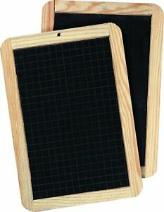 Giotto Slate Wood Frame Chalk Board with Grid Lines 18 x 26 cm