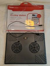 Vivitar Notebook Laptop Cooling Pad  USB Power Cable & Switch 2 Fans Tested