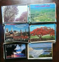 LOT OF 50 POSTCARDS *** 4 X 6 CARDS, USED WITH STAMPS  , USA ,  ALL CHROME