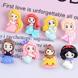 20pc Mixed Resin Cartoon Princess Girls Flatback Buttons for Crafts Decorations