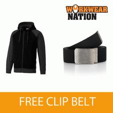 Dickies Two Tone Work Uniform Hooded Sweatshirt SH3009 FREE BELT BLACK