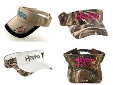 (4) HEYBO Sun Visors Wholesale Lot Camo White Khaki Hats Caps Southern By Choice