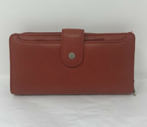 Buxton Red Leather Wallet